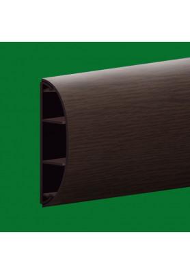 Наличник пластиковый с кабель каналом, цвет Венге 65 мм