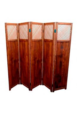 Ширма для комнаты и дома деревянная, покрытая маслом, Прованс-0035, ДваДома, 5 секционная, 180х200 см