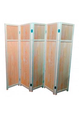 Ширма для комнаты и дома деревянная Прованс-0045, ДваДома, 5 секционная, 180х200 см